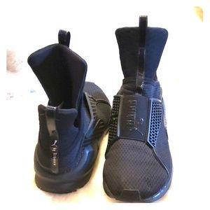 Puma Fenty by Rihanna sneakers, black, size 8